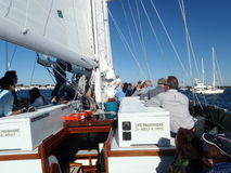 Annapolis in de Chesapeake baai stock foto