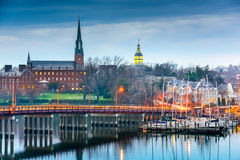 Annapolis le Maryland sur la baie de chesapeake Images stock