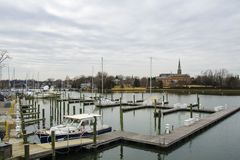 Annapolis Marina Royalty Free Stock Photos