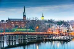 Annapolis Maryland op de Chesapeake Baai Stock Afbeeldingen