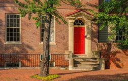 House of the historic district Annapolis stock photo