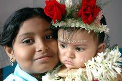 annaprashana印度仪式 库存照片