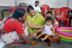 annaprashana ind rytuały Zdjęcia Stock
