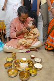Annaprashana Rituals Stock Photo