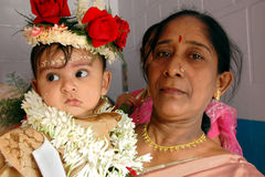 Annaprashana rituals in India Stock Photography