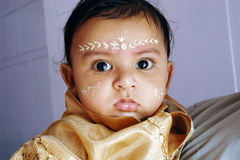 annaprashanaindia ritualer Royaltyfria Bilder
