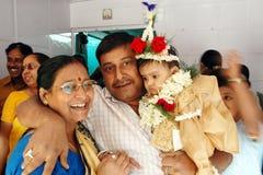 annaprashanaindia ritualer Royaltyfria Foton