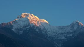 Annapurna summit at sunrise royalty free stock photos