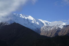 The Annapurana in Annapurana Circuit. Located in Pisang,Annapurana Circuit,Pokhara,Nepal.all photos are original and with no photoshop royalty free stock photo