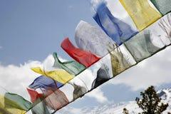 annapurna佛教标志祈祷 免版税库存图片