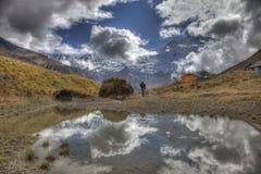 annapurna基本阵营圣所 免版税图库摄影