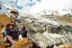 annapurna基本阵营尼泊尔 图库摄影