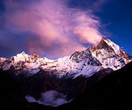 annapurna基本阵营尼泊尔 库存照片