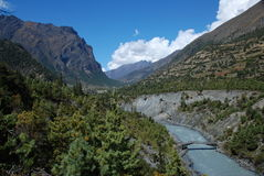 annapurna尼泊尔视图 库存照片
