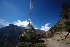 annapurna尼泊尔视图 免版税库存照片