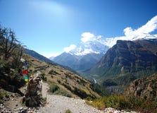 annapurna尼泊尔 库存图片