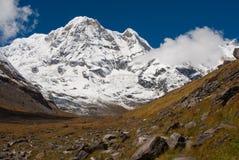 annapurna山尼泊尔南迁徙 库存图片
