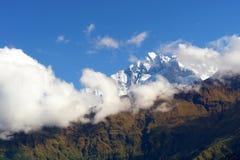 annapurna山尼泊尔视图 库存照片