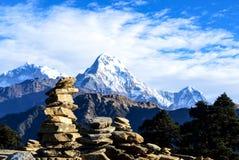 Annapurna山脉 库存图片