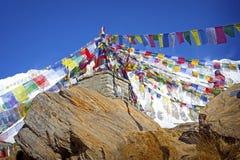 Annapurna电路艰苦跋涉 免版税图库摄影