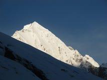 Annapurna范围的山在日出的 免版税库存图片