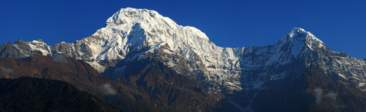 Annapurna范围 免版税图库摄影
