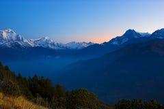 Annapurna范围 免版税库存图片