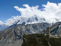 Annapurna από το στρατόπεδο βάσεων Tilicho Στοκ Εικόνες