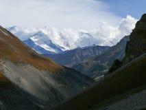 Annapurna - από το υψηλό στρατόπεδο Thorong, Νεπάλ Στοκ φωτογραφία με δικαίωμα ελεύθερης χρήσης