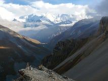Annapurna - από το υψηλό στρατόπεδο Thorong, Νεπάλ Στοκ Εικόνα