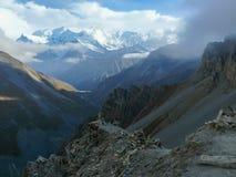 Annapurna - από το υψηλό στρατόπεδο Thorong, Νεπάλ Στοκ φωτογραφίες με δικαίωμα ελεύθερης χρήσης