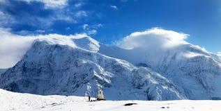 Annapurna 3 ΙΙΙ μπλε χρωματισμένος, σειρά Annapurna Στοκ φωτογραφίες με δικαίωμα ελεύθερης χρήσης