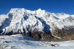 Annapurna 3 ΙΙΙ μπλε χρωματισμένος, σειρά Annapurna Στοκ εικόνες με δικαίωμα ελεύθερης χρήσης