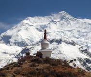 Annapurna 3 ΙΙΙ, στρογγυλό ίχνος οδοιπορίας κυκλωμάτων Annapurna Στοκ φωτογραφία με δικαίωμα ελεύθερης χρήσης