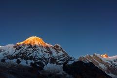 Annapurna Ι 8,091m από το στρατόπεδο βάσεων Annapurna, Νεπάλ Στοκ εικόνες με δικαίωμα ελεύθερης χρήσης