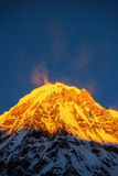 Annapurna Ι 8,091m από το στρατόπεδο βάσεων Annapurna, Νεπάλ Στοκ Φωτογραφία