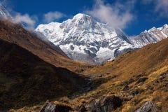 Annapurna Ι 8,091m από το στρατόπεδο βάσεων Machapuchare, Νεπάλ Στοκ Εικόνα