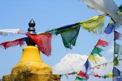 Annapurna και σημαίες Στοκ Εικόνες