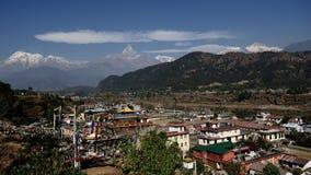 Annapurna και Tashi Palkhel Στοκ Εικόνα