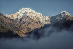 Annapurna στο Νεπάλ Στοκ φωτογραφία με δικαίωμα ελεύθερης χρήσης