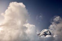 Annapurna южное в Гималаях стоковые изображения rf