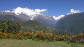 Η σειρά Annapurna στο Νεπάλ απόθεμα βίντεο