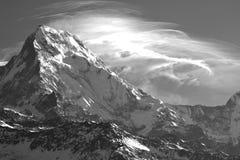 Annapurna, B/W, από το Hill Poon, Νεπάλ Στοκ Εικόνες