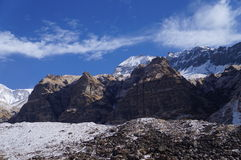 Annapurna Base Camp Clear Day. Perfect trekking day at Annnapurna Base Campe, Nepal Stock Photos