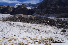 Annapurna Base Camp Clear Day Royalty Free Stock Image