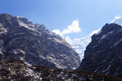 Annapurna Base Camp Clear Day Royalty Free Stock Photo