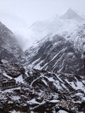 Annapurna Base Camp. Himalaya Mountains in Nepal Stock Images