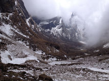 Annapurna Base Camp. Himalaya Mountains in Nepal Stock Photography