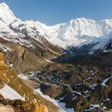 Annapurna base camp in Nepal Royalty Free Stock Photography