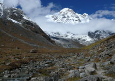 Annapurna Base Camp. South Annapurna Base Camp in Nepal Stock Photo
